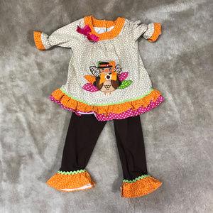 2 Piece set SZ 2T Thanksgiving Shirt/pants
